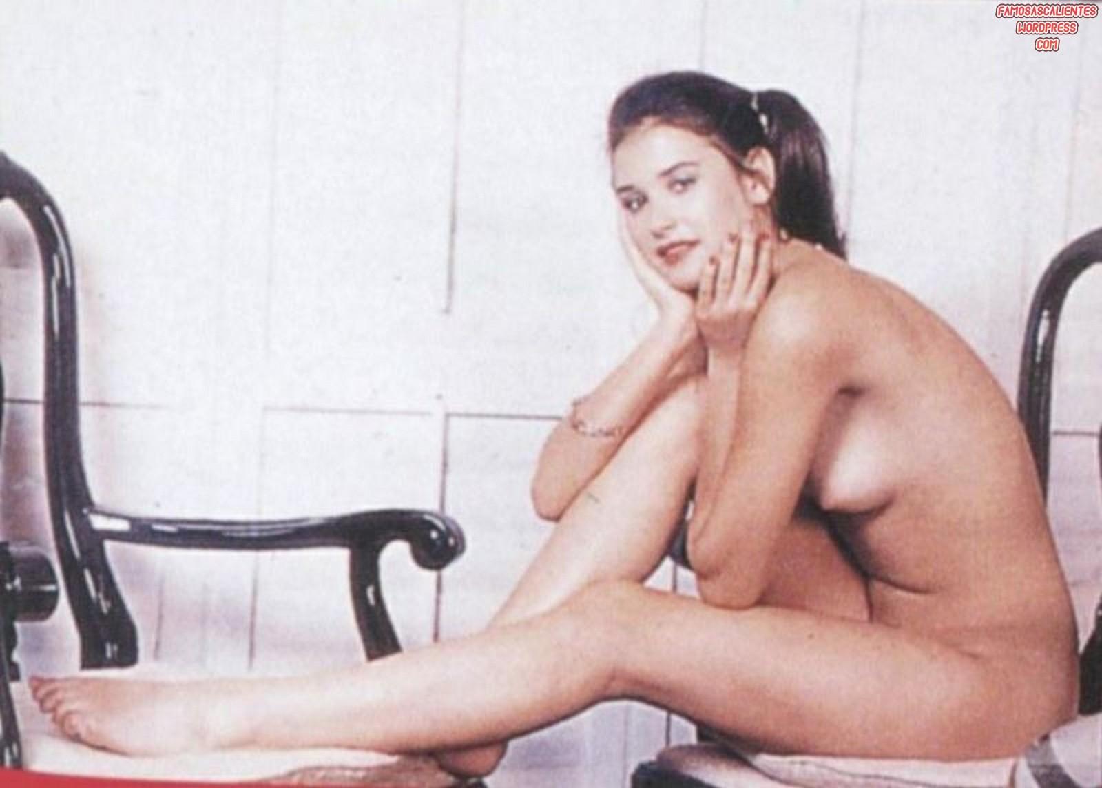 En Demi Moore Jovencisima Y Totalmente Desnuda